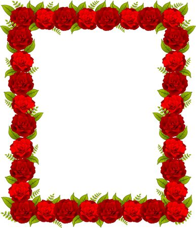 Red roses on background photo