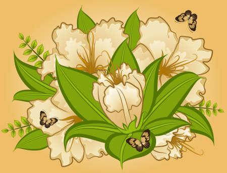 Flowers on background photo