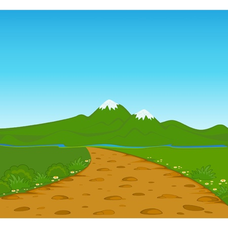 The summer landscape Vector