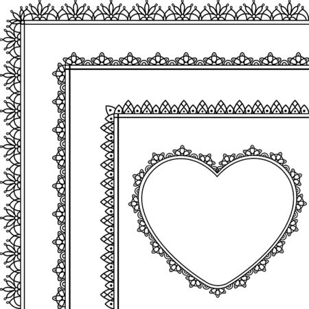 Beautiful background with lace and hearts.