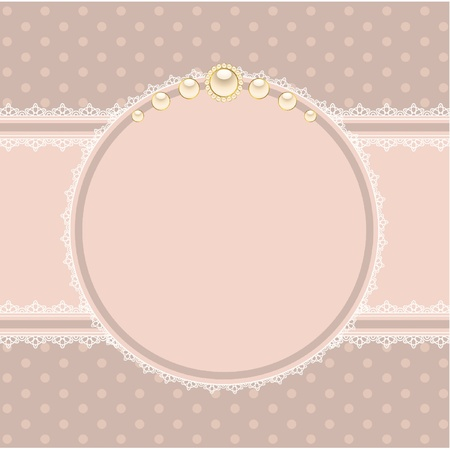 retro lace: Beautiful background with lace ornaments