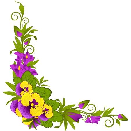 dresser: Violets on background