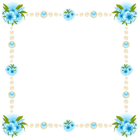 dresser: Flowers on the white background.