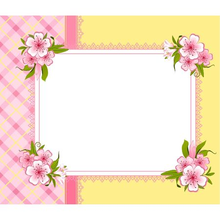 Flowers on background Stock Vector - 9655240
