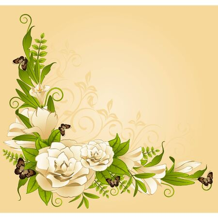 Flowers on background Vector