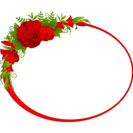 dresser: roses on the white background.