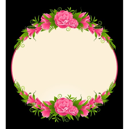 Roses on the black background Vector