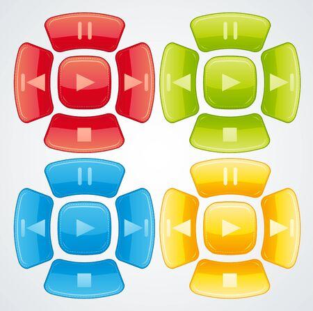 Beautiful glossy buttons. Stock Photo - 9714650