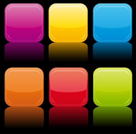 Beautiful glossy buttons. Stock Photo - 9714641