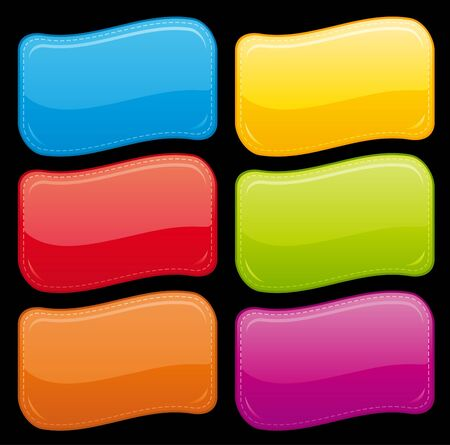 Beautiful glossy buttons. Stock Photo - 9714639