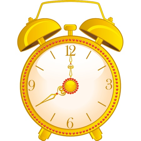 background with classic alarm clock Stock Vector - 9714677