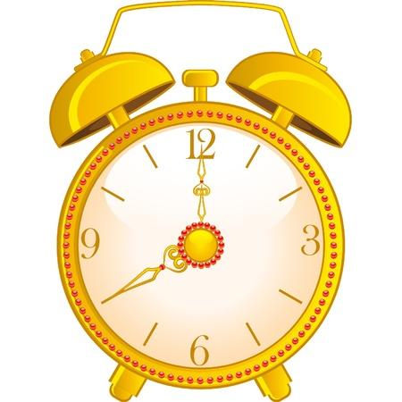 background with classic alarm clock Illustration