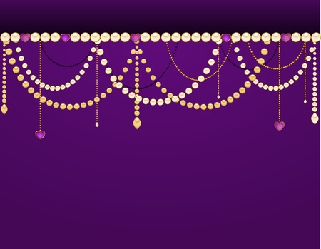 Beautiful background with lace ornaments and beads photo