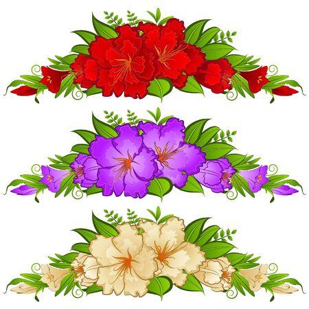 Flores sobre fondo