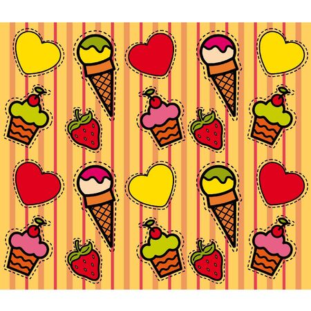 Beautiful background with a sweetness Vector