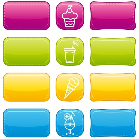 Food icon set Stock Vector - 9780051