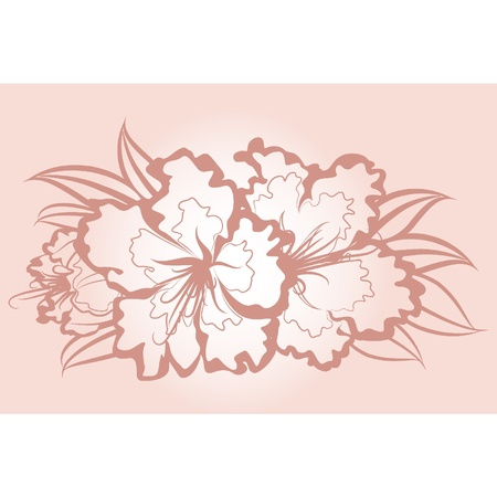 Flowers on background Stock Vector - 9780018