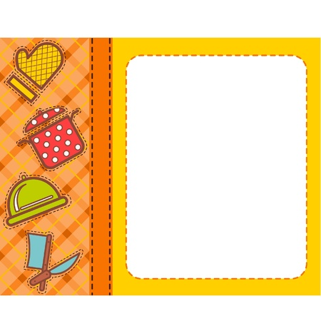 Beautiful background with a food elements Stock Vector - 9780004