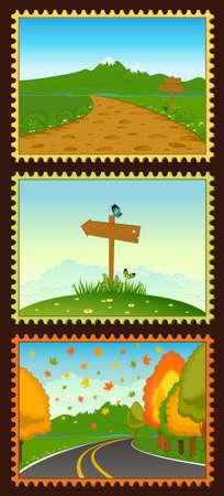 blank village postcard set Stock Photo - 9832672