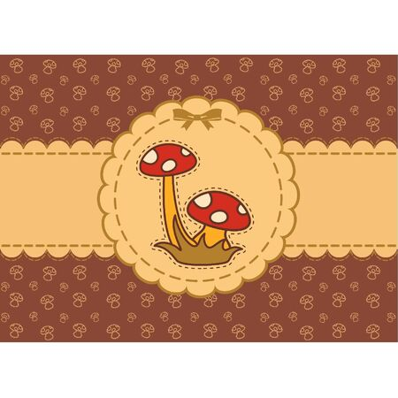 Vector beautiful background with fly-agaric Vector