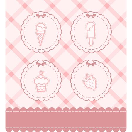 ice cream design: Beautiful background with a lace and sweetness