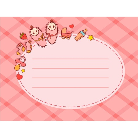 Vector beautiful background with baby icons Stock Vector - 9832667