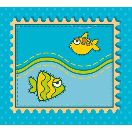 pez abstracto: Fondo abstracto de los pescados