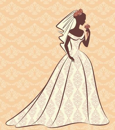 beautiful bride in dress photo