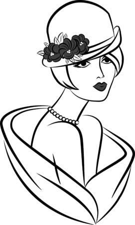 Vintage fashion girl in hat. Stock Photo - 10315925