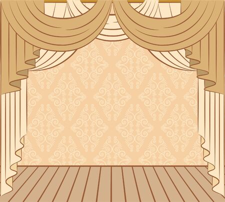 The vintage curtain. photo