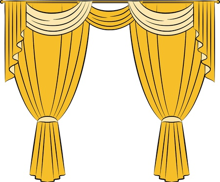 ornamentation: The vintage curtain. Stock Photo