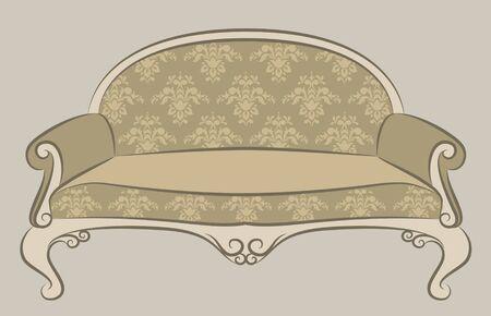 illustration sofa for vintage interior Stock Illustration - 10433560