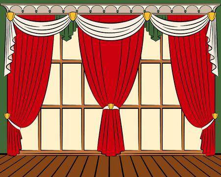 The vintage curtain.  photo
