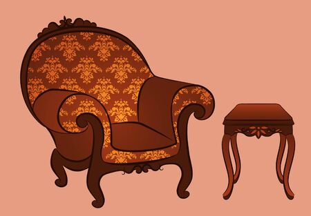 arm-chair for vintage interior Stock Photo - 10610660
