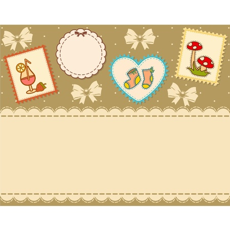 drawing pin: Beautiful background with baby icons