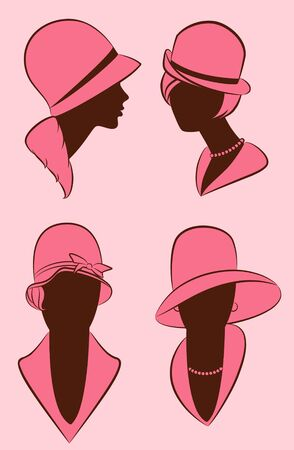 Vintage fashion girl in hat. photo