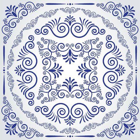 Vintage tapestry background. Vector Illustration