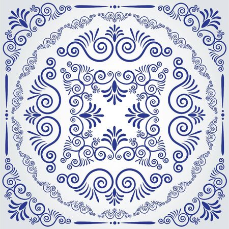 doilies: Vintage tapestry background.