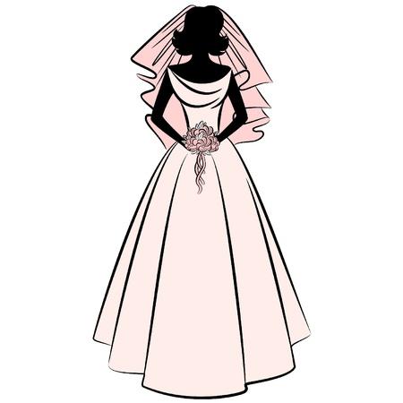 mooie bruid in jurk