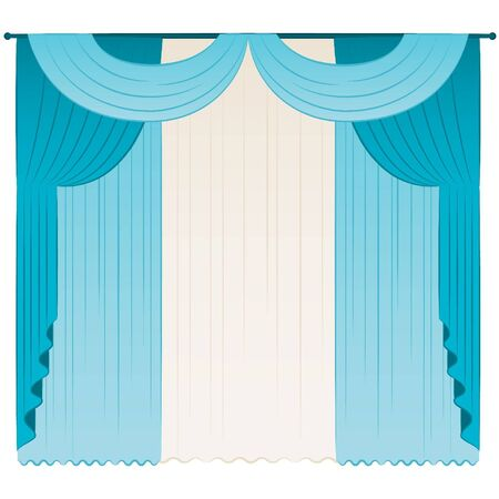 The vintage interior with curtain. Stock Vector - 10729602