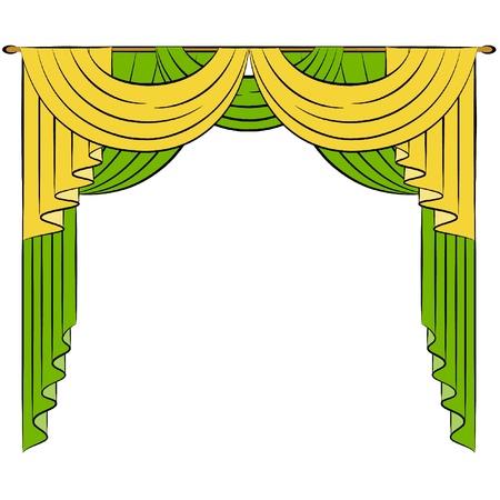 El interior de la vendimia con la cortina.