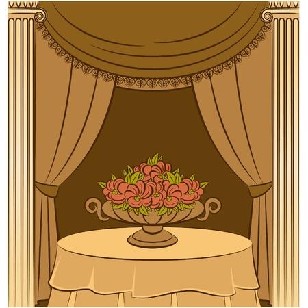 front desk: The vintage curtain