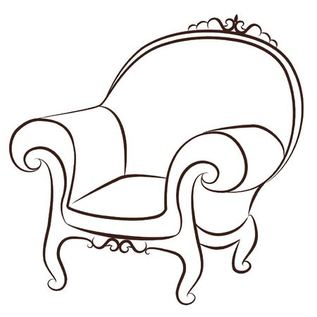 Vector arm-chair for vintage inter Stock Vector - 10729581