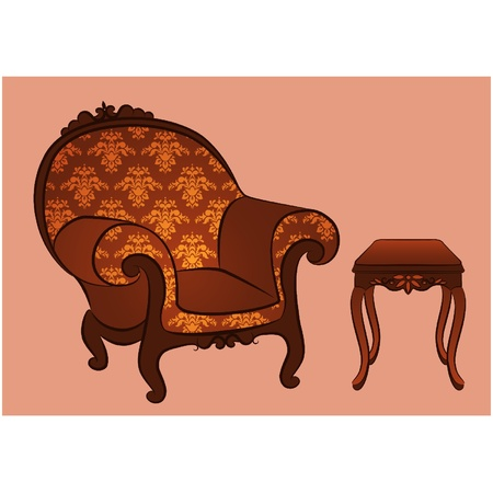 Vector arm-chair for vintage interior Stock Vector - 10729626
