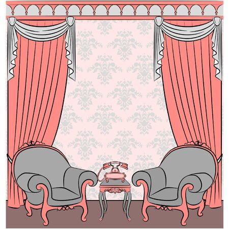 Vector illustration with vintage interior Stock Vector - 10729645