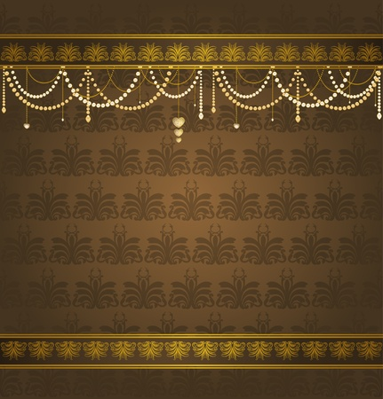 Luxury Vintage tapestry background. Stock Photo