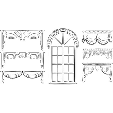 The vintage curtain. Ilustrace