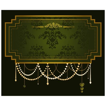 Luxury Vintage tapestry background. Vector