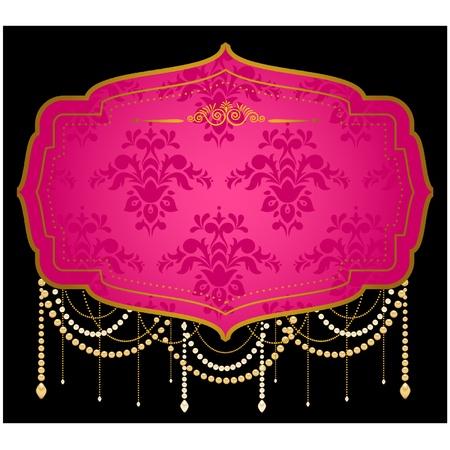Luxury Vintage tapestry background. Illustration