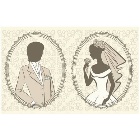 beautiful bride and groom Stock Vector - 11106929